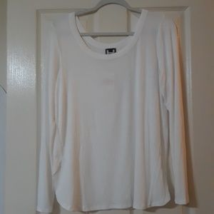 NWT  H by Bordeaux long sleeve white tee size L